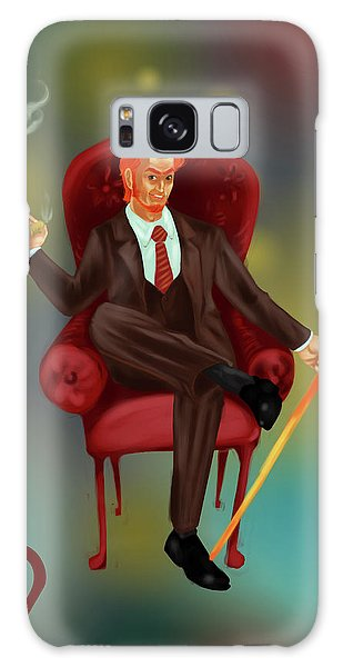 Traits Galaxy Case - Illustration Of Characteristic Of A Leo Businessman by Fanatic Studio / Science Photo Library