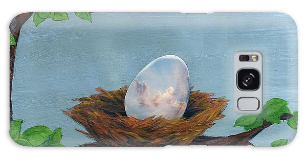 Cloudscape Galaxy Case - Illustration Of Egg In Nest by Fanatic Studio / Science Photo Library