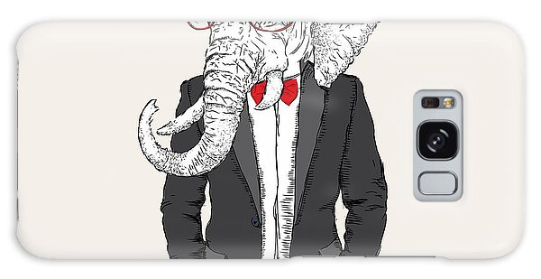 T-shirts Galaxy Case - Illustration Of Elephant Hipster by Sunny Whale