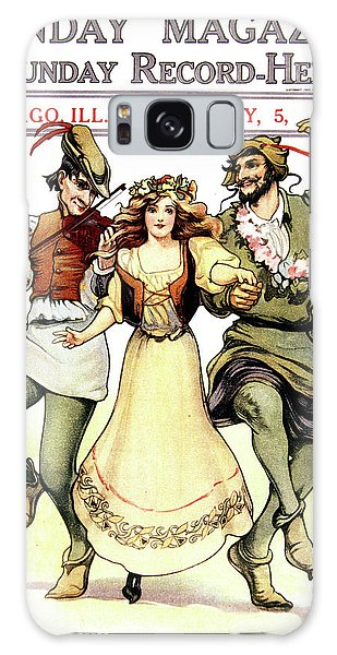 Vintage Chicago Galaxy Case - Illustration Of Medieval May Day Folk by Vintage Images