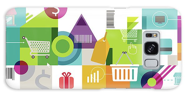 Online Shopping Cart Galaxy Case - Illustration Of Online Shopping by Fanatic Studio / Science Photo Library