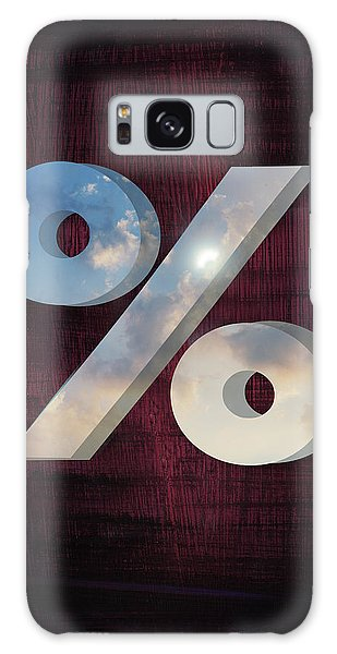 Cloudscape Galaxy Case - Illustration Of Percentage Sign On Coloured Background by Fanatic Studio / Science Photo Library