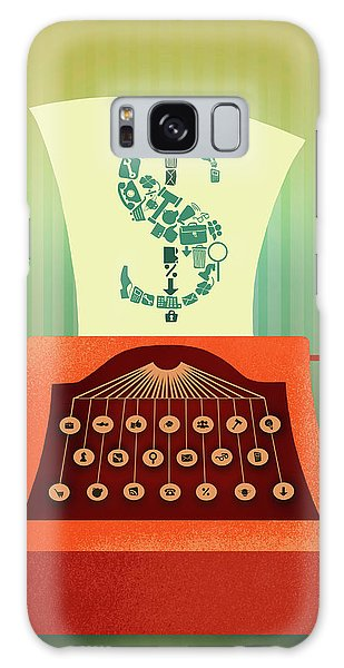 Language Galaxy Case - Illustration Of Typewriter Printing Out Dollar Sign by Fanatic Studio / Science Photo Library
