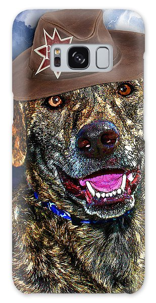 Galaxy Case featuring the digital art I'm A Canine Community Reporter by Kathy Tarochione