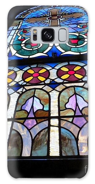 Immaculate Conception Stained Glass Galaxy Case