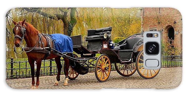 Immaculate Horse And Carriage Bruges Belgium Galaxy Case