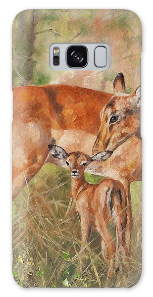 Deer Galaxy S8 Case - Impala Antelop by David Stribbling
