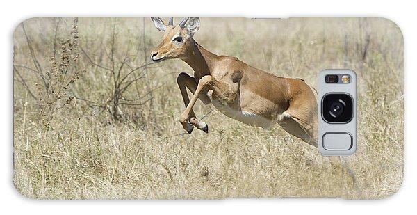 Impala Leaping Through Savanna Galaxy Case