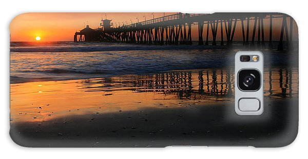 Imperial Beach Pier Sunset Galaxy Case by Scott Cunningham