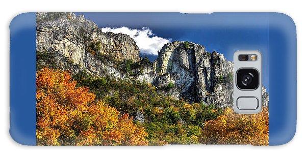 Imposing Seneca Rocks - Seneca Rocks National Recreation Area Wv Autumn Mid-afternoon Galaxy Case