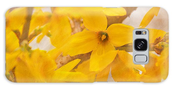 Impressionist Forsythia Galaxy Case