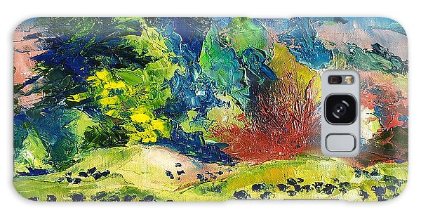 Impressionist Landscape With Cows Fine Art Oil Painting Galaxy Case