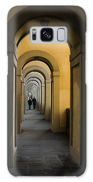 In A Distance - Vasari Corridor In Florence Italy  Galaxy Case