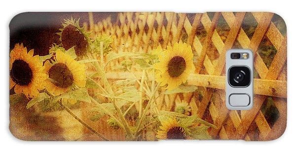 Sunflowers And Lattice Galaxy Case