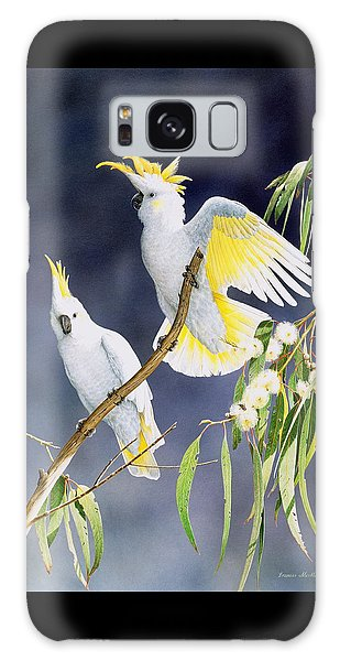In A Shaft Of Sunlight - Sulphur-crested Cockatoos Galaxy Case by Frances McMahon
