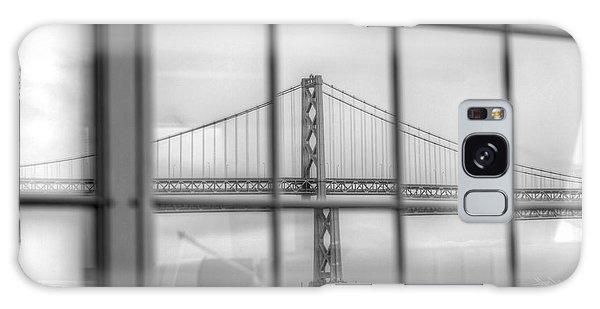 in a window the Bay Bridge Galaxy Case
