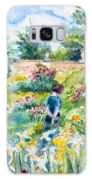 In An English Cottage Garden Galaxy Case