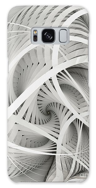 In Betweens-white Fractal Spiral Galaxy Case by Karin Kuhlmann