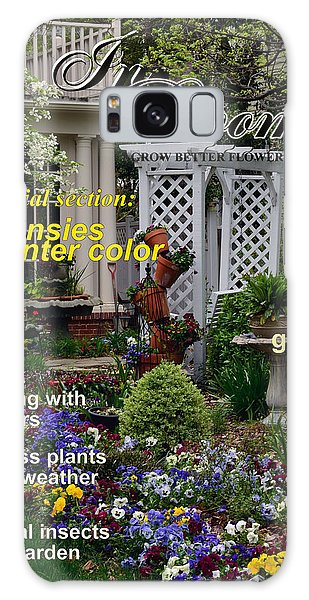 In Bloom Magazine - Pansies Galaxy Case