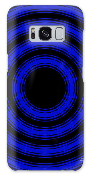 In Circles- Blue Version Galaxy Case by Roz Abellera Art