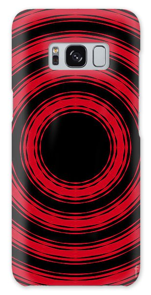 In Circles- Red Version Galaxy Case by Roz Abellera Art