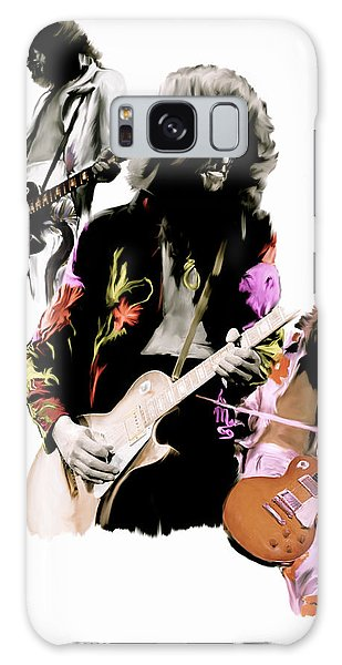 In Flight Iv Jimmy Page  Galaxy Case by Iconic Images Art Gallery David Pucciarelli