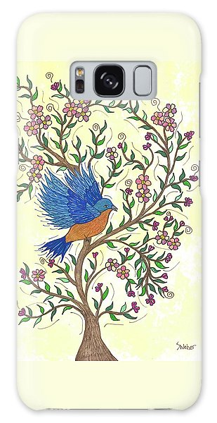 In The Garden - Bluebird Galaxy Case by Susie WEBER