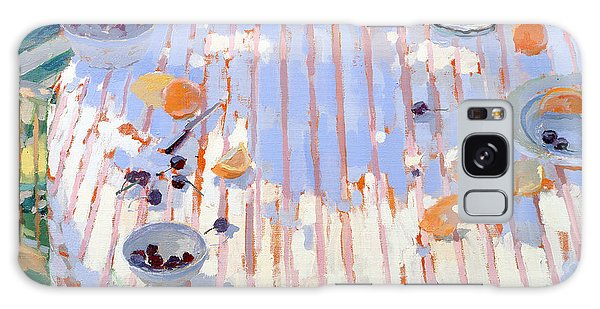 Outdoor Dining Galaxy Case - In The Garden Table With Oranges  by Sarah Butterfield