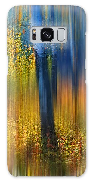 In The Golden Woods. Impressionism Galaxy Case by Jenny Rainbow