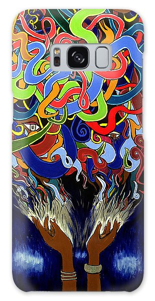 Colorful Abstract Art Painting, African Goddess Art, Creation, Energy, Afrofuturism, Cosmigalaxy Galaxy Case