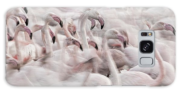Marie Galaxy Case - In The Pink Transhumance by Martine Benezech