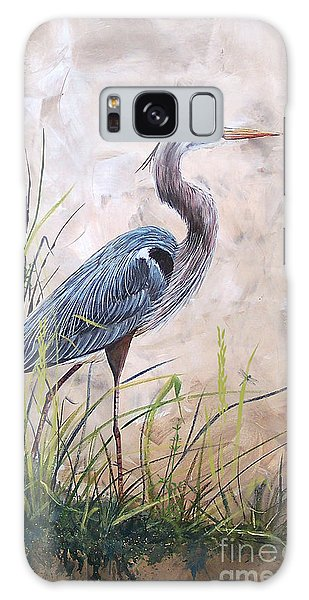 Herons Galaxy Case - In The Reeds-blue Heron-a by Jean Plout
