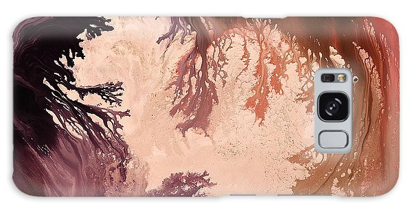 In The World Of Reverie Dark Abstract Art By Kredart Galaxy Case by Serg Wiaderny