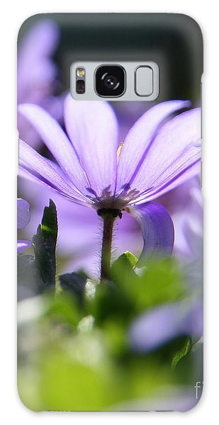 Floral Purple Light  Galaxy Case by Neal Eslinger