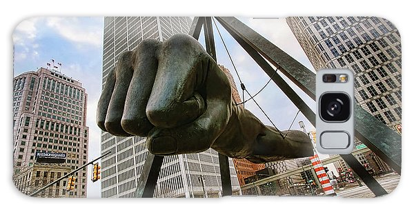 Made Galaxy Case - In Your Face -  Joe Louis Fist Statue - Detroit Michigan by Gordon Dean II