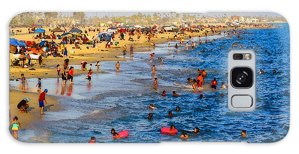 Independence Day Beach Scene Galaxy Case by Timothy Bulone