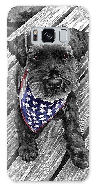 Watercolor Schnauzer Black Dog Galaxy Case