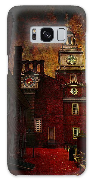 Independence Hall Philadelphia Let Freedom Ring Galaxy Case by Jeff Burgess
