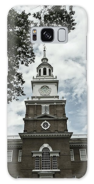 Independence Hall Postcard Galaxy Case by Glenn DiPaola