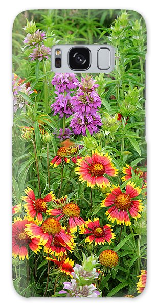 Indian Blankets And Lemon Horsemint Galaxy Case