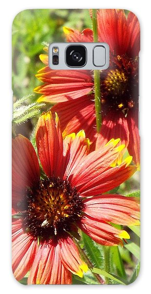 Indian Blankets Galaxy Case by Audrey Van Tassell