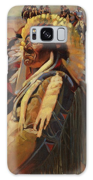 Indian Head Galaxy Case - The Chief Indians On Horseback by Don  Langeneckert