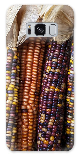 Indian Corn Galaxy Case - Indian Corn Close Up by Garry Gay