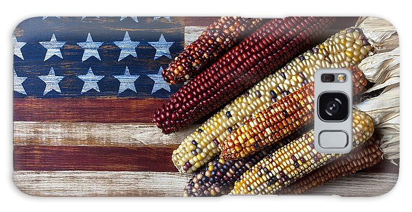 Indian Corn On American Flag Galaxy Case