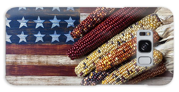 Indian Corn On American Flag Galaxy S8 Case