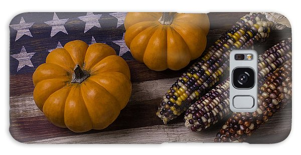 Indian Corn Galaxy Case - Indian Corn On Old Flag by Garry Gay