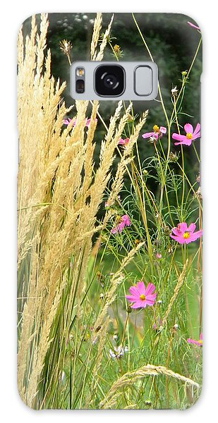 Indian Grass And Wild Flowers Galaxy Case