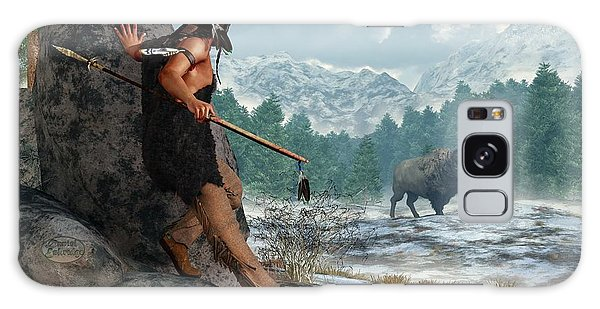Indian Hunting With Atlatl Galaxy Case