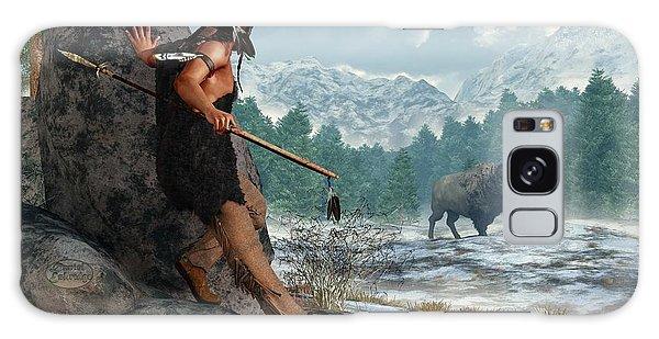 Indian Hunting With Atlatl Galaxy Case by Daniel Eskridge