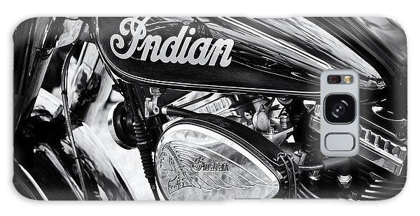 Indian Head Galaxy Case - Indian Chief Motorbike Monochrome by Tim Gainey